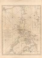A chart of the China Sea and Philippine Islands with the Archipelagos of Felicia and Soloo : shewing the whole tract comprized, between Canton and Balambangan with the soundings, shoals, rocks, & ca.