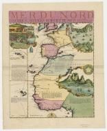 Carte de la Mer du Sud et de la Mer du Nord : ou se trouve les costes d'Amerique, d'Asie, d'Europe et d'Afrique situées sur ces mers. Part 5