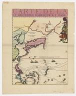 Carte de la Mer du Sud et de la Mer du Nord : ou se trouve les costes d'Amerique, d'Asie, d'Europe et d'Afrique situées sur ces mers. Part 1
