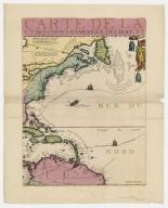 Carte de la Mer du Sud et de la Mer du Nord : ou se trouve les costes d'Amerique, d'Asie, d'Europe et d'Afrique situées sur ces mers. Part 4