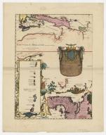 Carte de la Mer du Sud et de la Mer du Nord : ou se trouve les costes d'Amerique, d'Asie, d'Europe et d'Afrique situées sur ces mers. Part 6