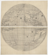 [Map of the world in two hemispheres].Part 2