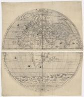 [Map of the world in two hemispheres].Part 1