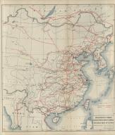 Railway map of China : Peking, Oct. 1918