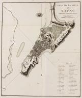 Plan de la ville de Macao : latitude 22º 12' 44'', longitude à l'Est de Paris mº 5.