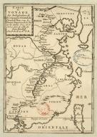 Carte du voyage des ambassadeurs de la Compagnie orientale des Provinces Unies, vers le Tartare empereur de la Chine, les années 1655, 1656 et 1657, tirée de celle de Jean Nieuhoff