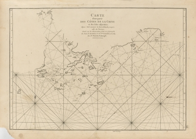 Carte d'une partie des côtes de la Chine et des Isles adjacentes : depuis l'Isle nommée la Pierre Blanche, jusqu'a celle de l'Artimon