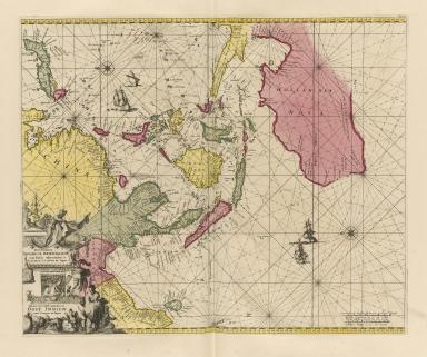 Orientaliora Indiarum Orientalium cum insulis adjacentibus a promontorio C. Comorin ad Japan = Pascaert van t'Ooster gedeelte van Oost Indien van C. Comorin tot Japan