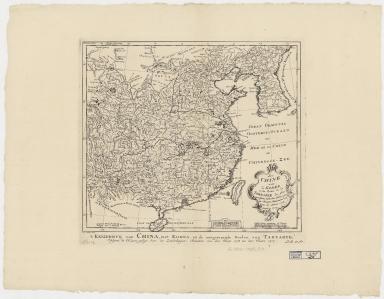 La Chine avec la Korée, et les parties de la Tartarie les plus voisines : tirées des cartes que les Jesuites Missionaires ont levées les années 1708, jusqu'en 1717 = Keyzerryk van China, met Korea, en de aangrenzende deelen van Tartarye