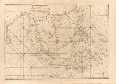 A new chart of the oriental seas and islands with the coasts of the continent from the Isle of Ceylon to Amoye in China