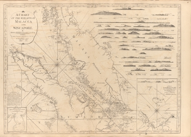 A chart of the Straits of Malacca and Sincapore