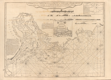 A chart of the China Sea from the island of Sanciam to Pedra Branca with the course of the river Tigris from Canton to Macao