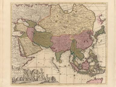 Exactissima Asiae delineatio, in praecipuas regiones, caeterasq[ue] partes divisa, et denuò in lucem edita
