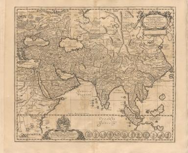Asia antiqua cum finitimis Africae et Europae regionibus