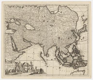 Exactissima Asiae delineatio : in praecipuas regiones caeterasq[ue] partes divisa et denuo in lucem edita