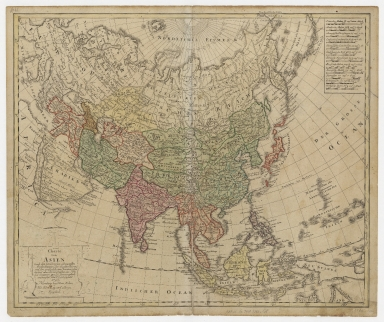 Charte von Asien : nach den bewährtesten astronomischen Beobachtungen den neuesten Reisen, und den vorzüglichsten Charten, insonderheit aber der Geographie de Hrn I.C. Gatterers. gemäss