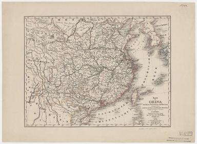 Karte von China mit dessen Eintheilung in 18 Provinzen