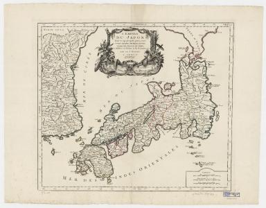 L'empire du Japon : divisé en sept principales parties, savoir, Ochio, Quanto, Jetsegen, Jetsen, Jamaisoit, Xicoco et Ximo, et subdivisé en soixante et six royaumes