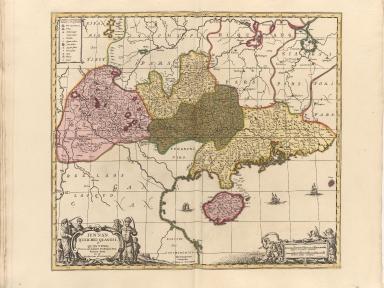 Iunnan, Queicheu, Quangsi, et Quantung : provinciae Regni Sinensis, Praefecturae dictae, hoc est Meridiem inter et Occidentalis sitae