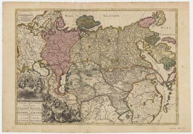 Carte nouvelle de tout l'empire de la grand Russie : dans l'estat ou il s'est trouvé à la mort de Pierre le Grand : dressée sur des observations toutes nouvelles et dediée à l'immortelle memoire de ce grand monarque