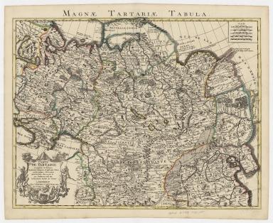 Carte de Tartarie : dressée sur les Relations de plusieurs Voyageurs de differentes Nations et sur quelques Observations qui ont été faites dans ce païs la