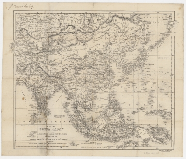 Map of China, Japan and the eastern archipelago : issued with the London & China Telegraph of 28th November and the London & China Express of 26th November 1859