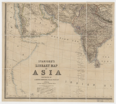 Stanford's library map of Asia. Part 3
