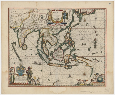 Blaeu map of Southeast Asia and the surrounding areas