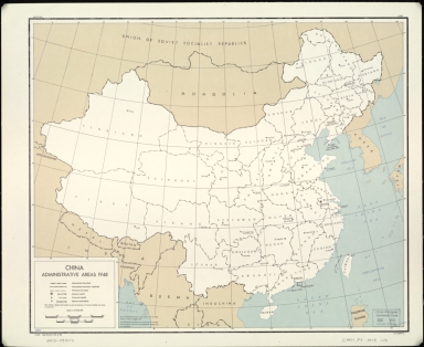 China, administrative areas 1948