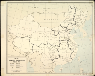 China, communist administrative areas 1952