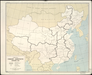 China, communist administrative divisions 1953