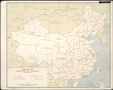 Communist China, administrative divisions, March 1956