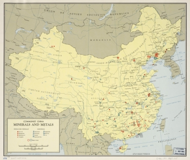 Communist China, minerals and metals