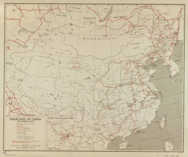 Railroads in China, December 1953