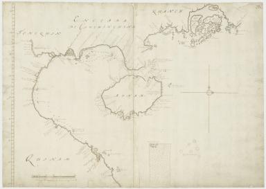 Kaart van de Kust van Quinam, Tonquin en Cochin-China, van R. Cantaon tot aan Punta Lamtaon, benevens het Eyland Aynam en Isla de Pracel