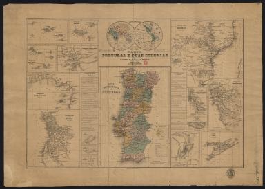 Carta de Portugal e suas colonias