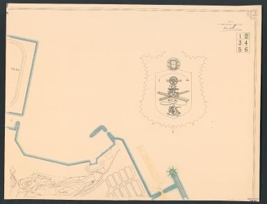 Planta geral da cidade e novo porto de Macau
