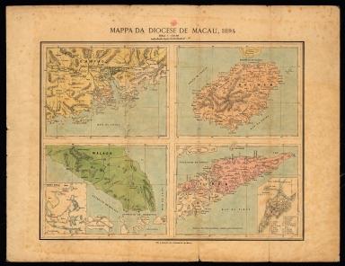 Mapa da Diocese de Macau