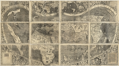 Waldseemüller world map, 1507