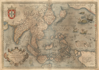 A map of the East Indies and surrounding islands.