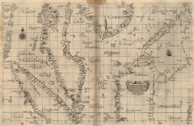 Particular map of Malacca with the coast from Pegu, Cambodia with the Islands of Sumatra and northern part of Borneo many other surrounding islands and islets