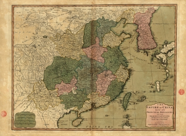 The Empire of China with its principal divisions : drawn from the surveys made by the Jesuits, with improvements and additions from the maps of Mons.r D'Anville.