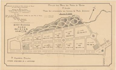 Plano dos arruamentos nos terrenos do Porto Exterior