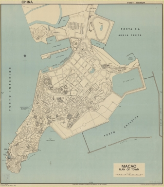 Macao : plan of town