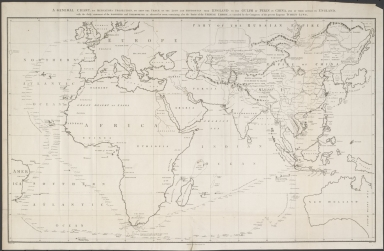 A general chart, on Mercator's projection, to shew the track of the Lion and Hindostan from England to the Gulph of Pekin in China, and of their return to England : with the daily statement of the barometer and thermometer as observed at noon: containing also the limits of the Chinese Empire as extended by the conquests of the present Emperor Tchien-Lung