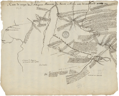 Route du voiage du S.r Nikiposa Moscovite de Moscou a Pekin avec des marchands [en 1685] ; Route du voiage du Moscovite Evesk o Petlin a la Chine en 1620.