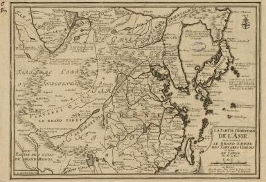La partie orientale de l'Asia ou se trouvent le grand Empire des Tartares Chinois et Celuy du Japon