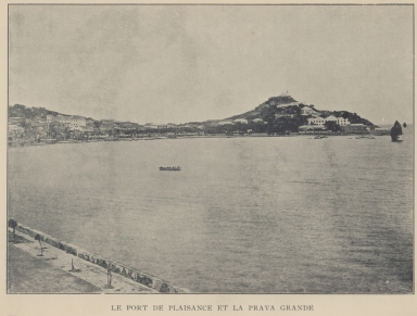 Le port de plaisance et la praya grande
