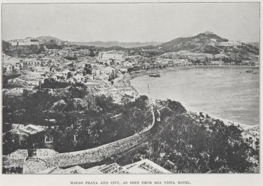 Macao praya and city, as seen from boa vista hotel