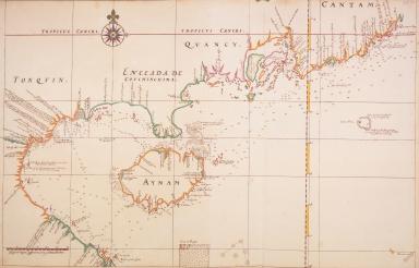 [Kaart van de kusten van Tonkin en Zuid-China]